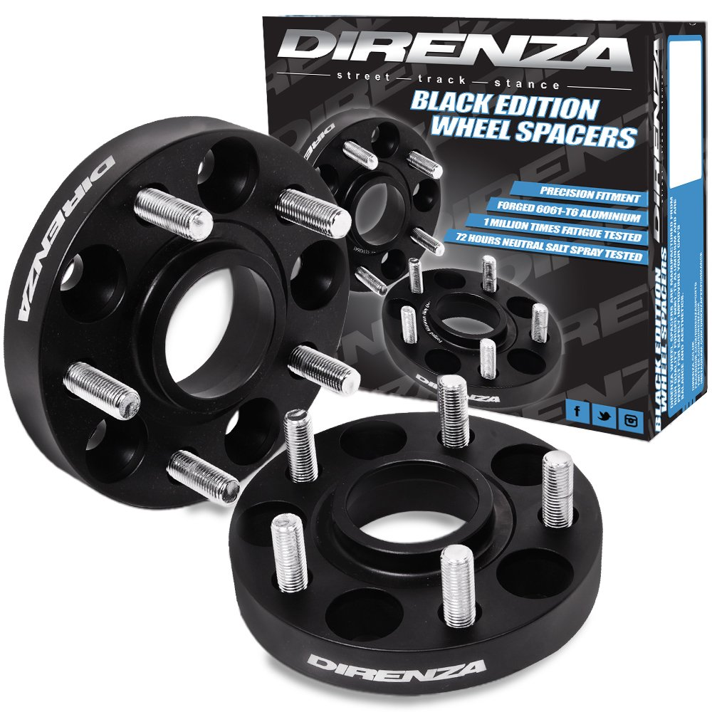 Direnza Wheel Spacers 5X114.3 15mm M12X1.25 66.1mm Forged Al 6061-T6
