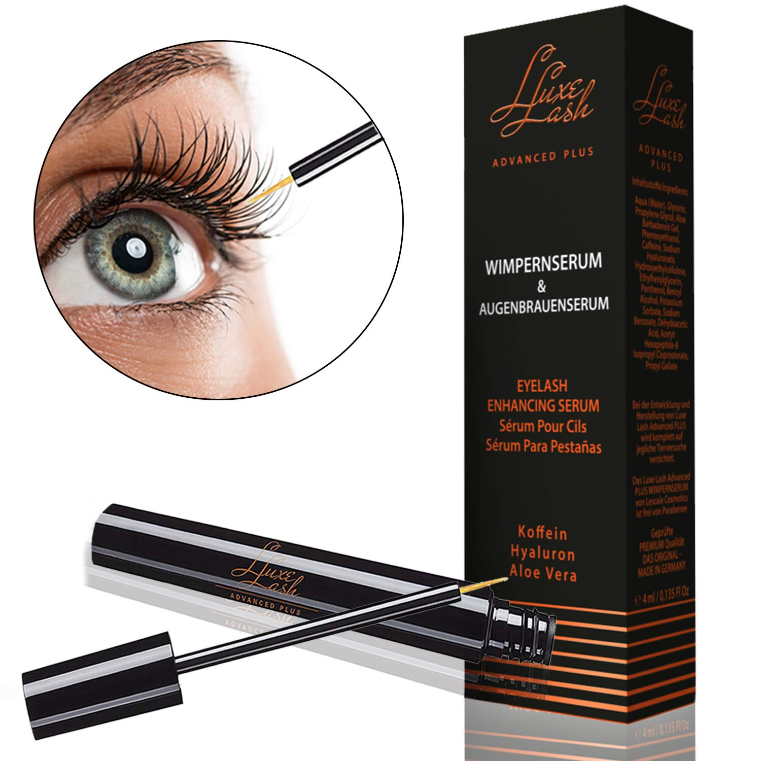 Eyelash Growth Enhancer Serum and Conditioner 4 milliliters by Luxe Lash by Lescale (Image #1)