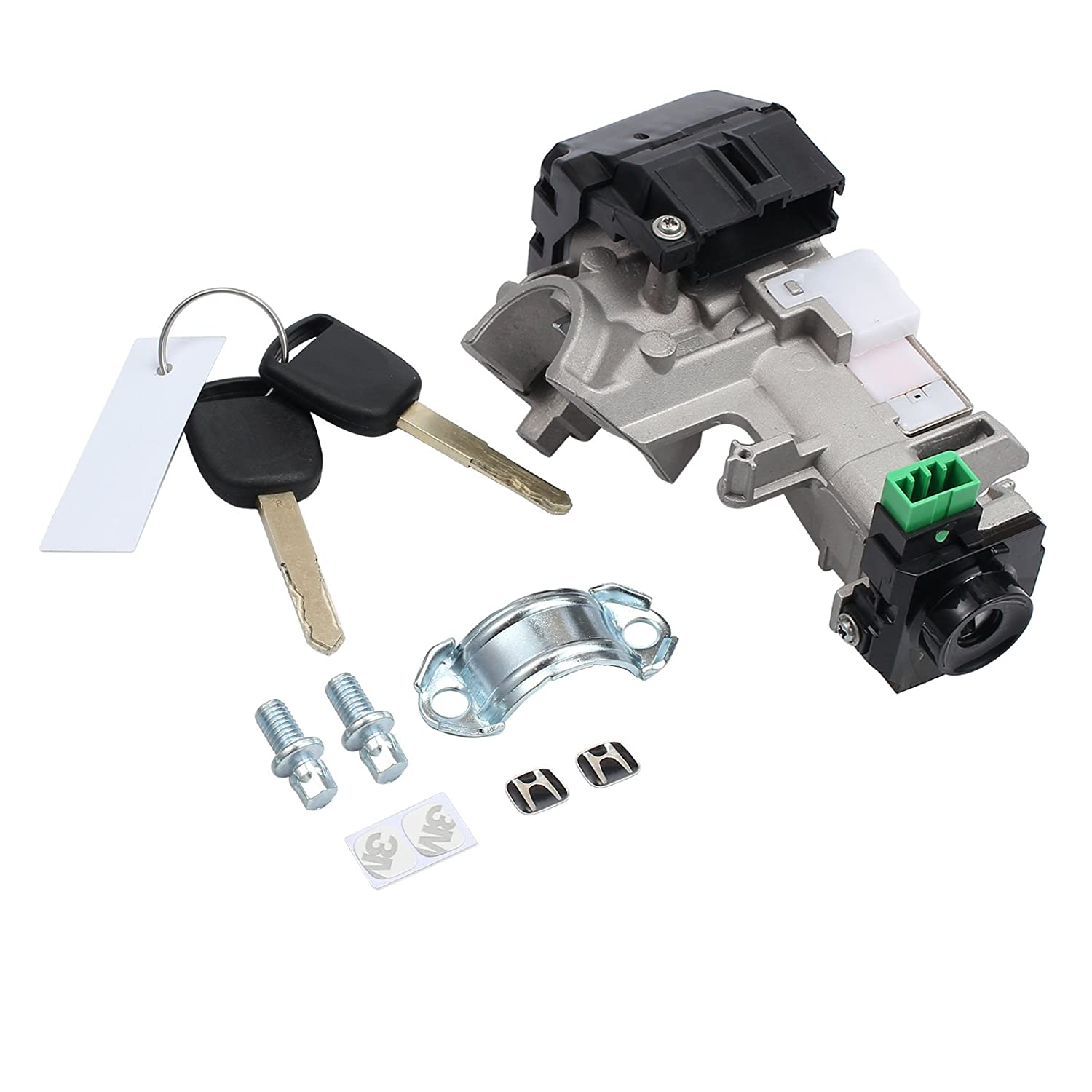 Amazon.com: AUTOUTLET Ignition Switch Cylinder Lock Auto Trans 2 Keys For  Honda Accord Civic 2003-2005: Automotive