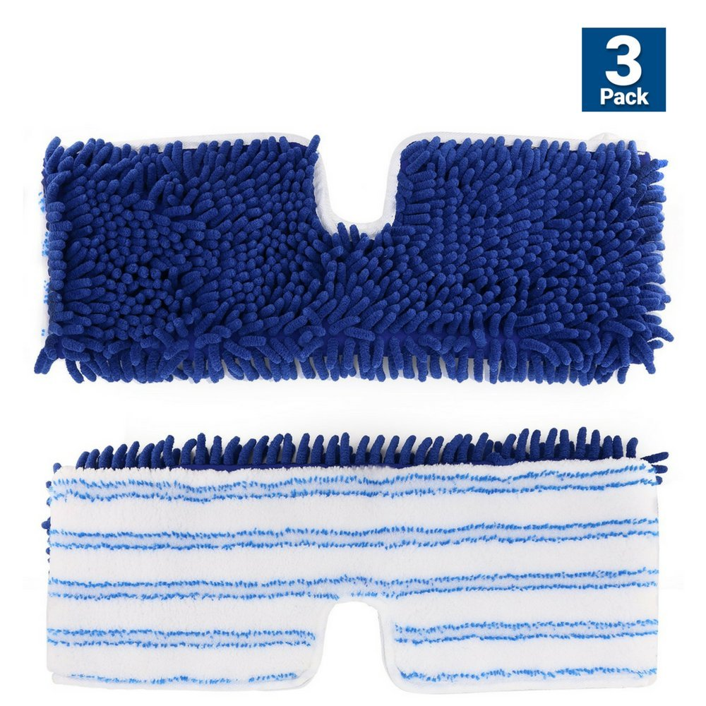 Bonison OEM Refill Pads for O-Cedar Dual-Action Flip Mop, Replacement Mop Heads for Dry/Wet, Machine Washable, Double Sided Velcro Flat Sponge, All Surface Cleaning (3 Pack)