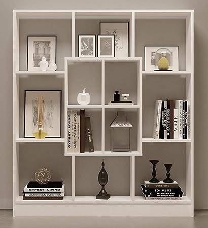 Scaffali Per Libri Design.Homidea Mars Libreria Scaffale Per Libri Scaffale Per Ufficio Soggiorno Dal Design Moderno Bianco