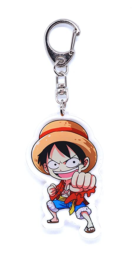 Anime Domain Llavero de One Piece con Figura Chibi (Luffy ...
