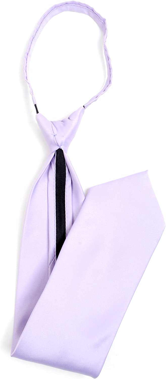 Stylish Solid Color Plain Zipper Tie Lavender