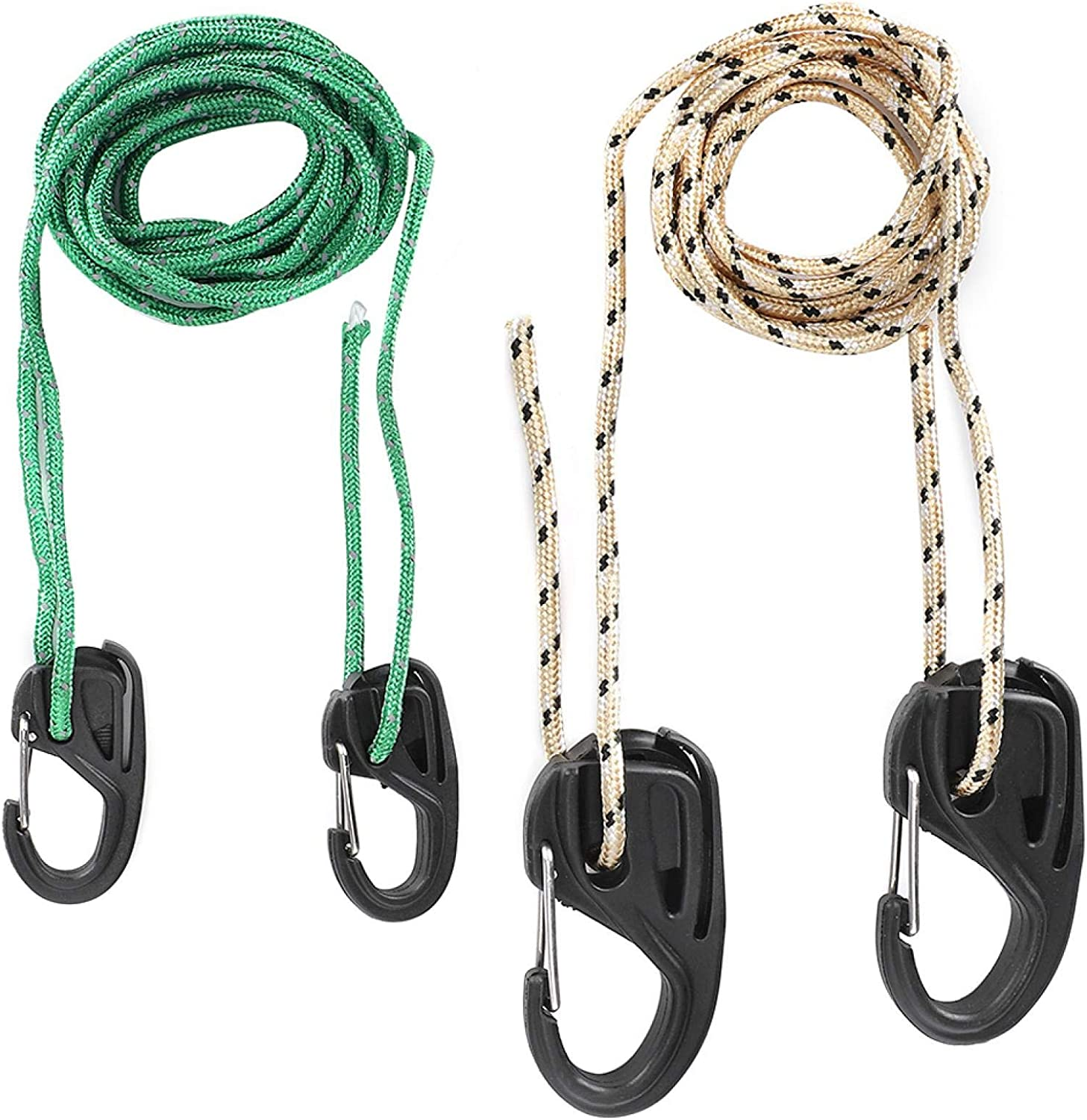 Jeanoko Lanyard Hook Lockable Designed Tent Lanyard Hook Cord Tight for Hanging Tents for Planting Lights for Outdoor Activity Fans Carabiners