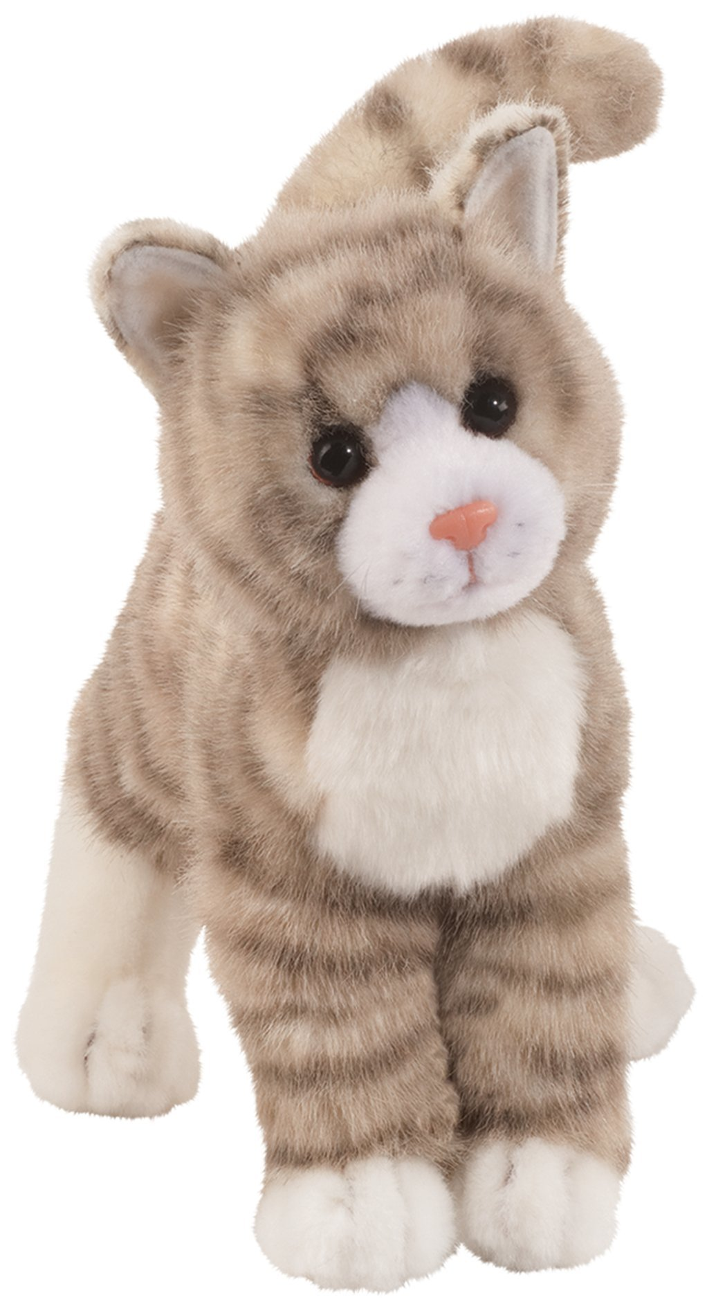 Douglas Zipper Grey Tabby Cat Plush Stuffed Animal
