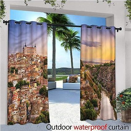 Amazon.com: Cortina de ventana con impresión de paneles ...