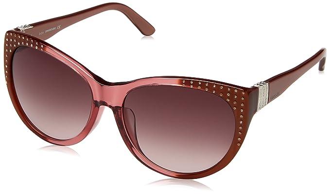 Swarovski SK0087F-6038F, Gafas de sol para Mujer, Bordeaux ...