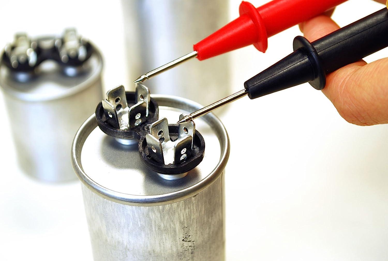 TEMCo Motor Run Capacitor RC0096-100 mfd uf 370//440 V VAC Volt 100 uf Round HVAC TEMCo AC Electric