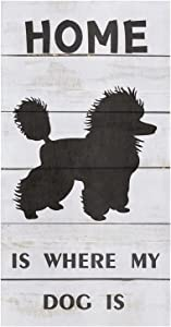 Kitchen Towels Lovely Dog Tea Towel Microfiber Absorbent Washable Wood Grain Simple Home is Where My Dog is Soft Hand Dish Towel Cleaning Cloth for Kitchen Bathroom,18 x 28 Inch