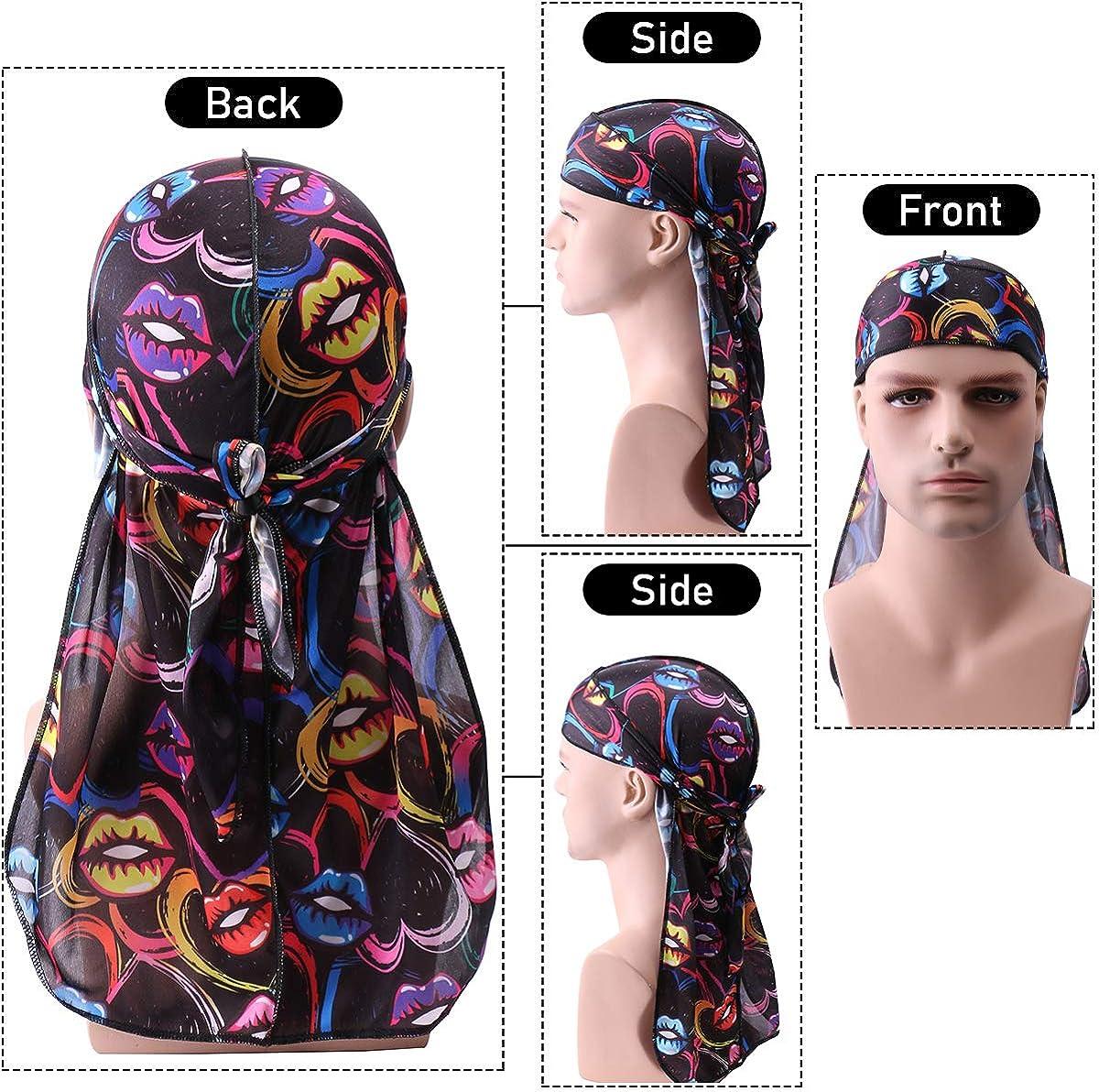 Babalet Durags for Men New Multi-Design Velvet Durag 360 Wave Caps for Women