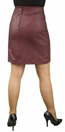 """2f0c2f6783 Panelled Leather Skirt (above knee length 18""""/45cm) - Ladies/Womens"""