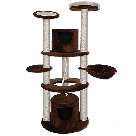 dibea KB00822, Árbol Rascador para gatos, altura 158 cm, troncos extra fuerta con