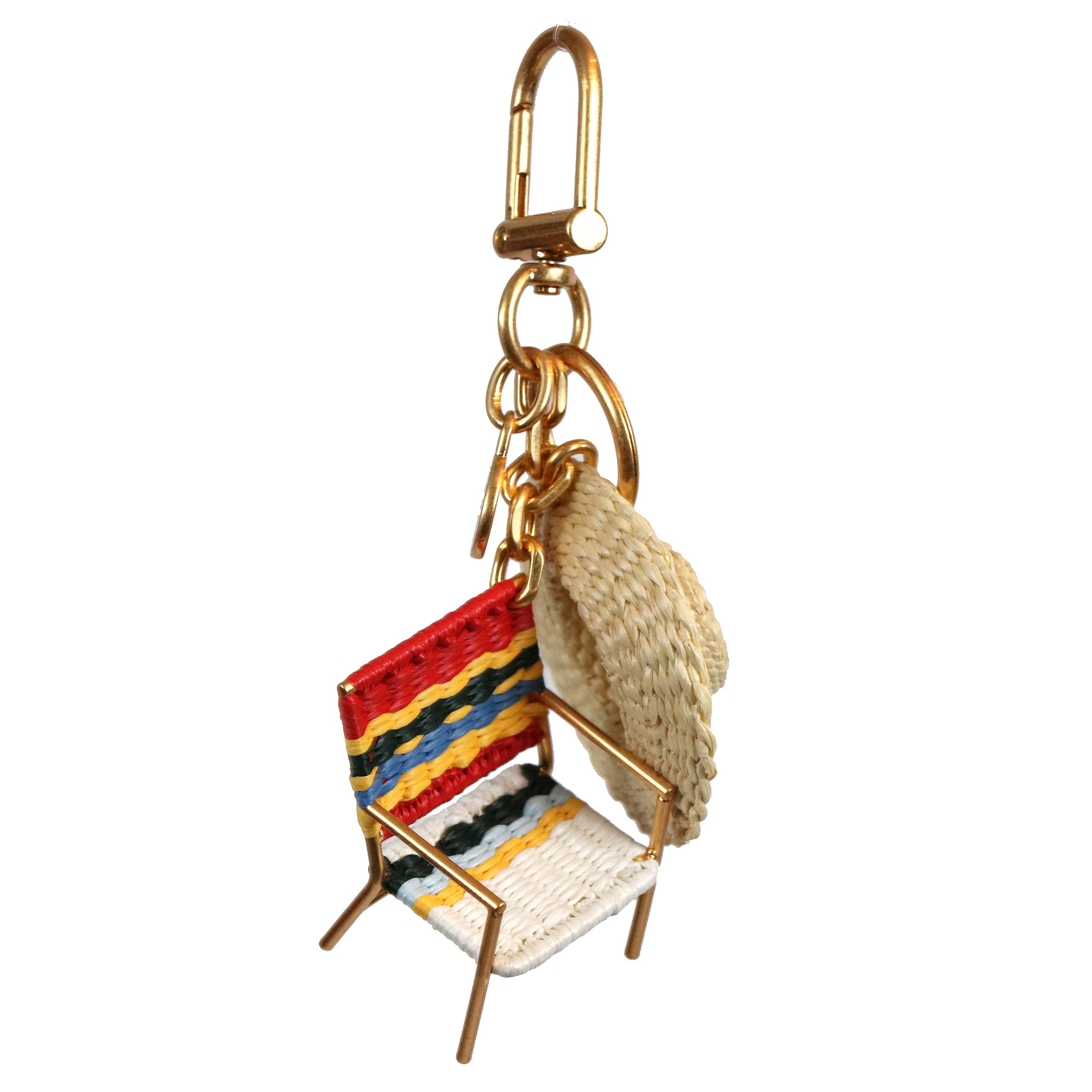 Tory Burch Keychain Keyfob Beach Chair