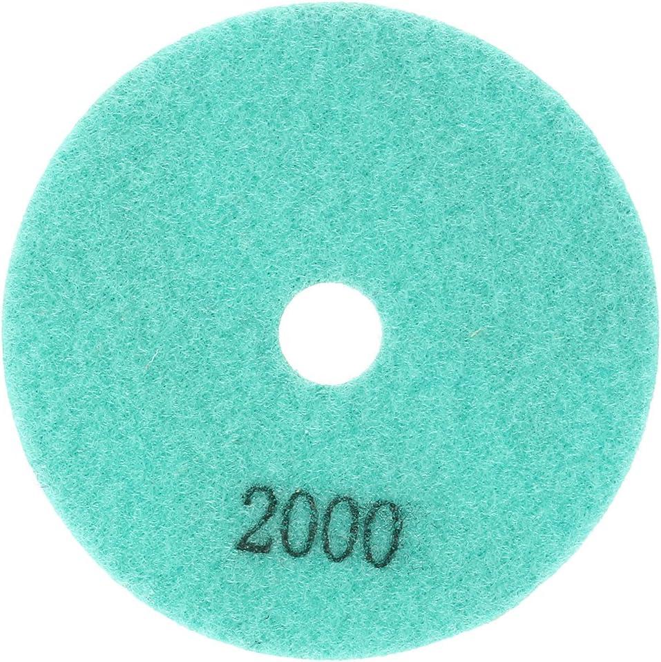 SOURCING MAP sourcing map 4 del Diamante Pulido H/úmedo Almohadilla Disco Granularidad 2000 10pcs Granito M/ármol de Cemento