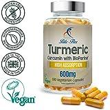 Curcuma curcumina 600mg con BioPerine® 180 Vegetariano Vegano capsule resistenza ottimale Alto assorbimento, da Rite Flex