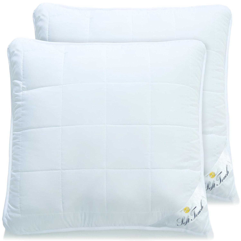 aqua-textil Soft Touch, 2er Set Kopfkissen 80x80