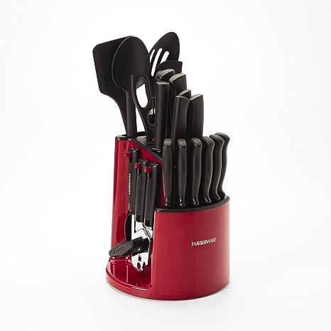 Farberware vajilla de Spin y almacenar Carrusel – Cubertería, color rojo