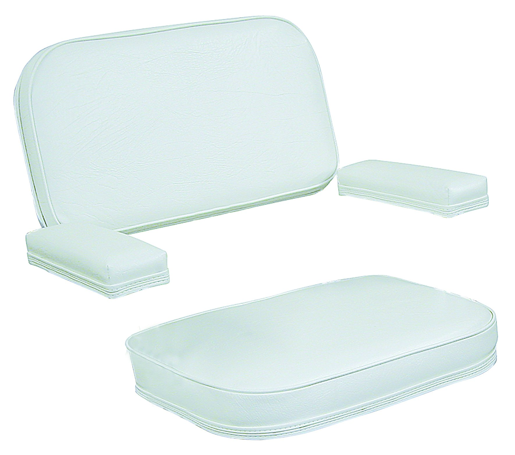 Wise 120AB Series Deck Chair Replacement Cushions and Arm Pads, White by Wise