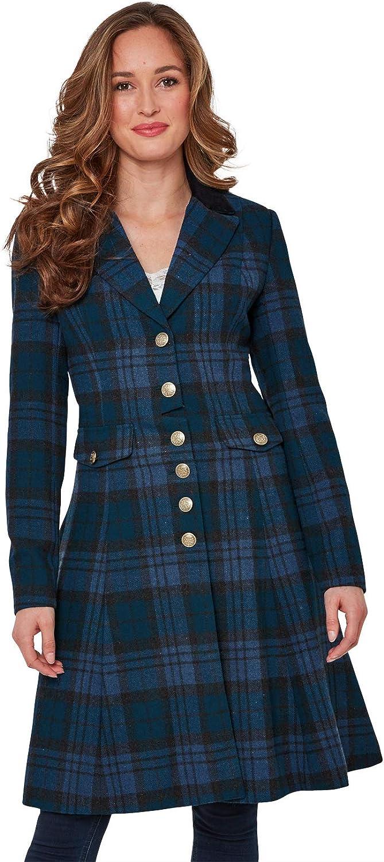 Joe Browns Womens Check Print Coat with Velvet Collar
