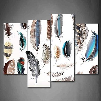 Amazon Com Yaoni 4 Piece Canvas Print Contemporary Art