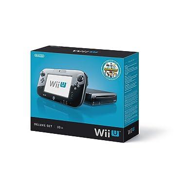 Nintendo Wii U Console 32GB Black Deluxe Set with Nintendo Land
