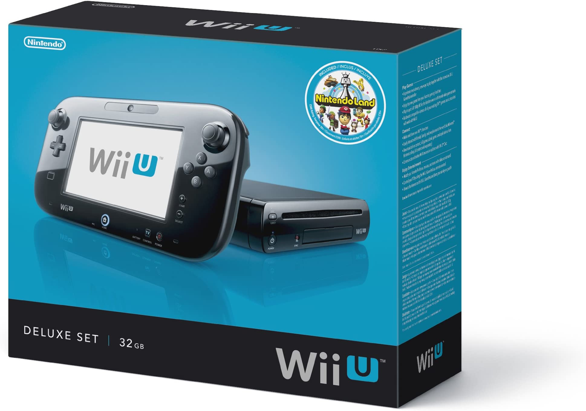 amazon com nintendo wii u console 32gb black deluxe set video games rh amazon com Wii Mini Wii U Console