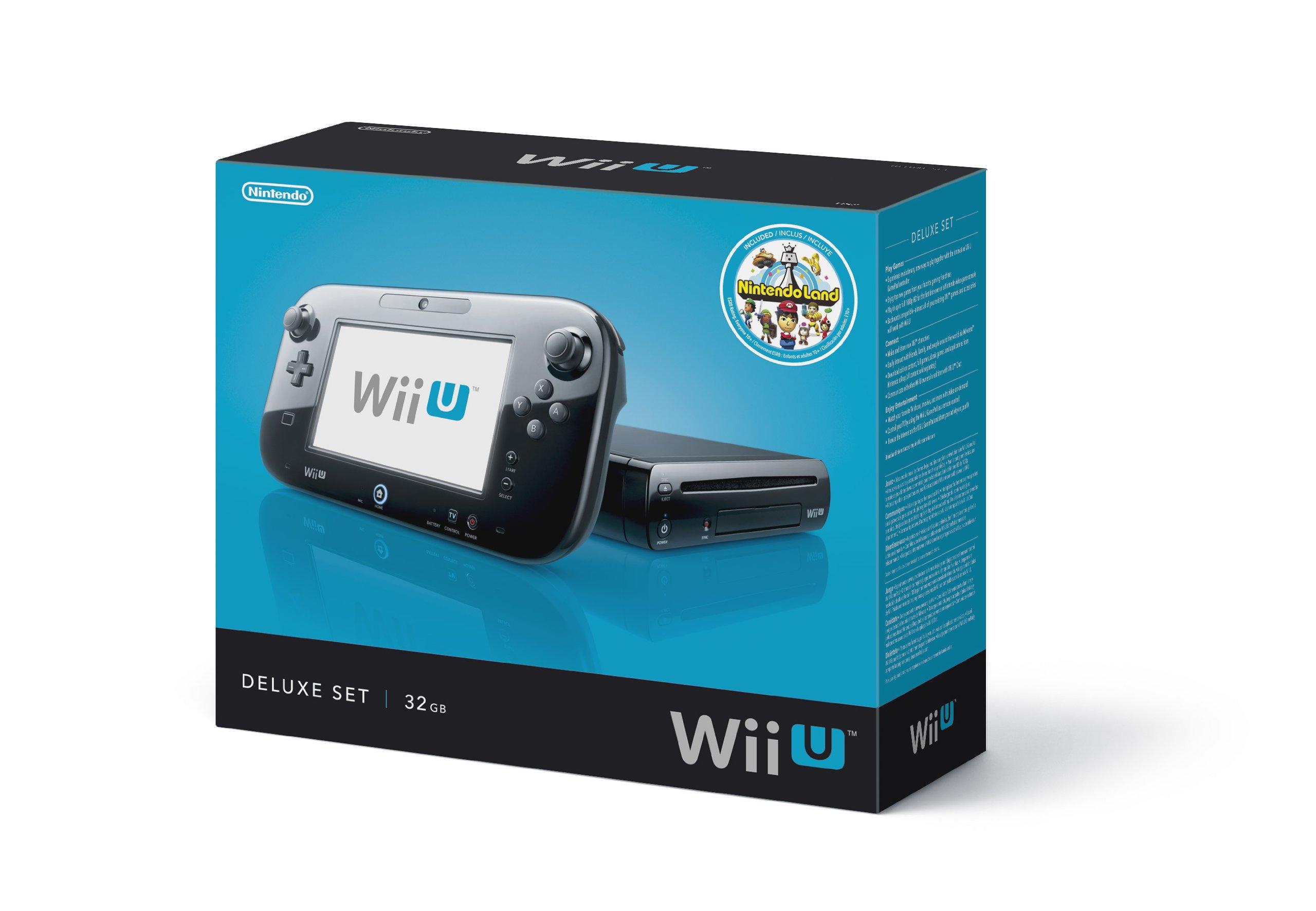Nintendo Wii U Console - 32GB Black Deluxe Set | eBay