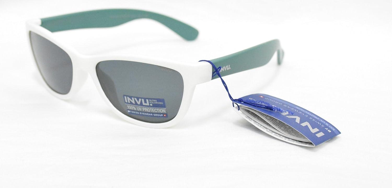 INVU Gafas de Sol polarizadas Bimbo K 2416 B Blanco Verde Lentes ...