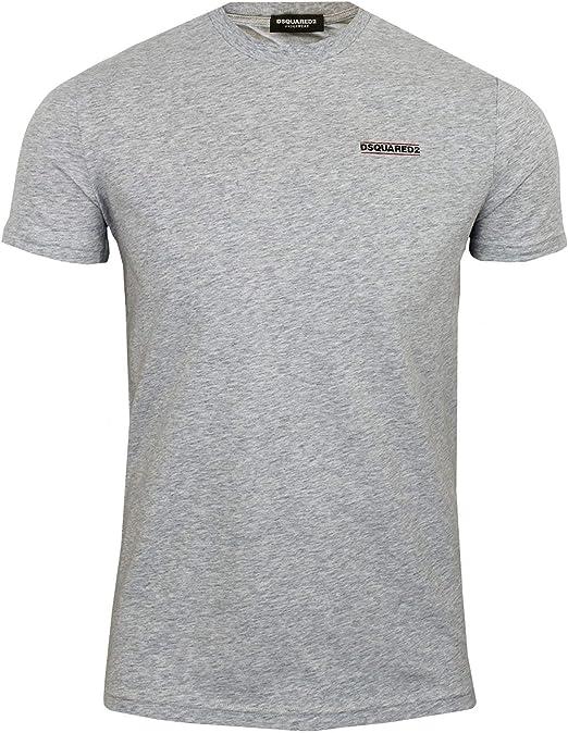 DSquared 2 Camiseta para hombre, gris, cuello redondo, ropa interior – gris, XL: Amazon.es: Ropa y accesorios