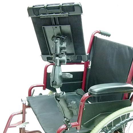 Montaje en riel de mayor para silla de ruedas y pesadas Tablet para Amazon Fire HD
