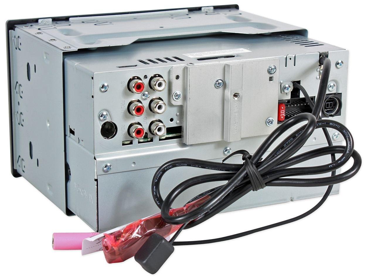 Amazon.com: New JVC KW-HDR81BT Double DIN CD USB/AUX Car Receiver ...