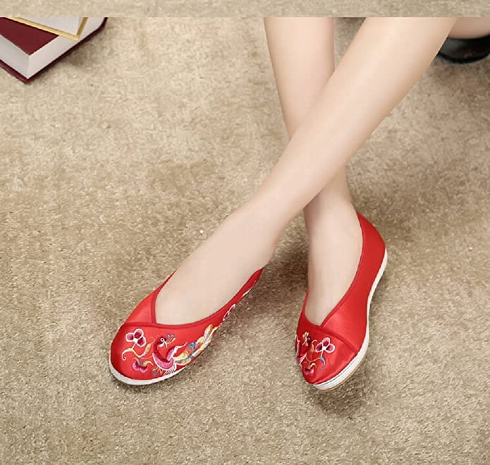 Lazutom Vintage Embroidery Women Chinese Style Casual Shoes Martial Arts  Footwear: Amazon.co.uk: Shoes & Bags