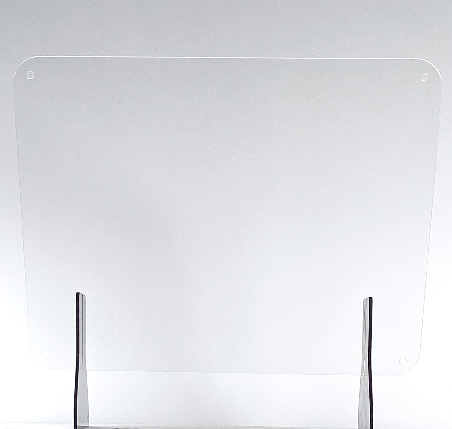 Clear Acrylic 24 x 18 Sneeze Guard 1/4 Plexiglass Cashier Clerk Protection Shield Desktop Counter or Hanging