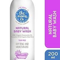 The Moms Co. Tear-Free Natural Baby Wash with Calendula, Avodado Oils and USDA-Certified Organic Oils Like Argan, Chamomile - 200ml