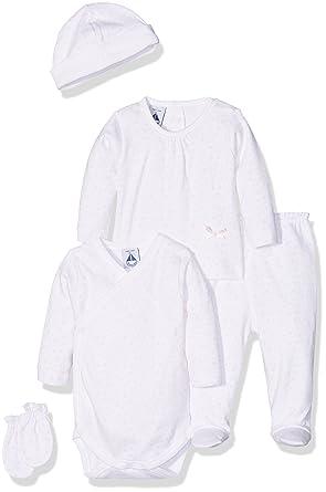 BABIDU Pack Nacimiento, Conjunto de Ropa Interior Bebe-Unisex, BCO/RSA, 1 Mes: Amazon.es: Ropa y accesorios