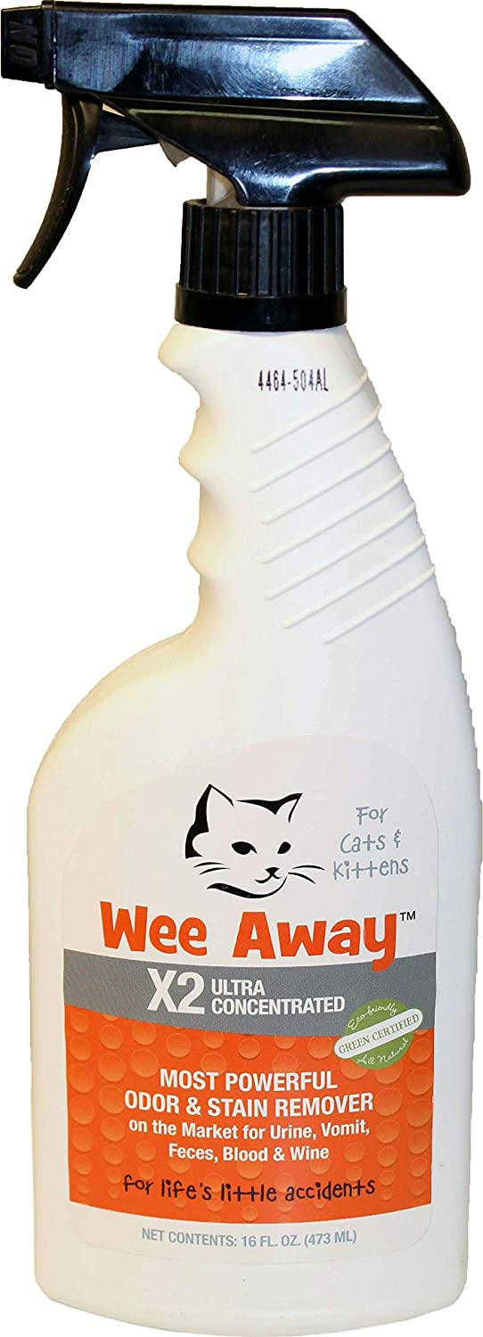 Wee Away Cat X2 Concentrated Ultimate Pet Stain Odor Eliminator Remover 16z 6006075