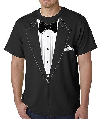 Amazon.com: Tuxedo Tees The Classic Black Tie Tuxedo T Shirt ...