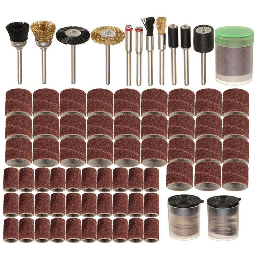 ULKEME 150Pcs Rotary Power Tool Fits Dremel 1/8' Shank Sanding Polish Accessory Bit Set