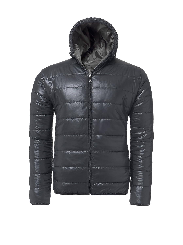 MALEXXIUS Giacca double-face INVICTUS, giacca, Giacca invernale, Cappuccio (MAL002) M007-Herren_schwarz-grau-L