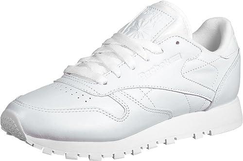Reebok Classic Leather Pearlized Mujer Zapatillas Blanco, Blanco, 39: Amazon.es: Zapatos y complementos