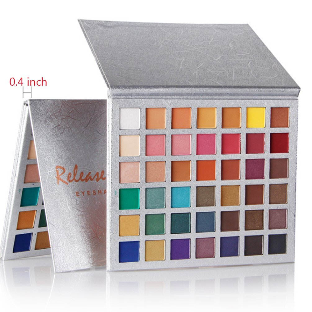 Eyeshadow Palette 42 Colors Eye Shadow Powder Make Up Waterproof Eye Shadow Palette Cosmetics (colorful)