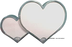 Relive Photo Frame in Double Heart Shape with Standing and Dual Photos Cum Paper Weight subsitude Also,Item Size 14x3x9 aprx