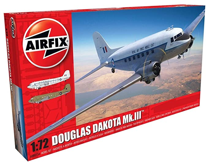 Amazon.com: Airfix Douglas Dakota MK III 1:72 Military ...