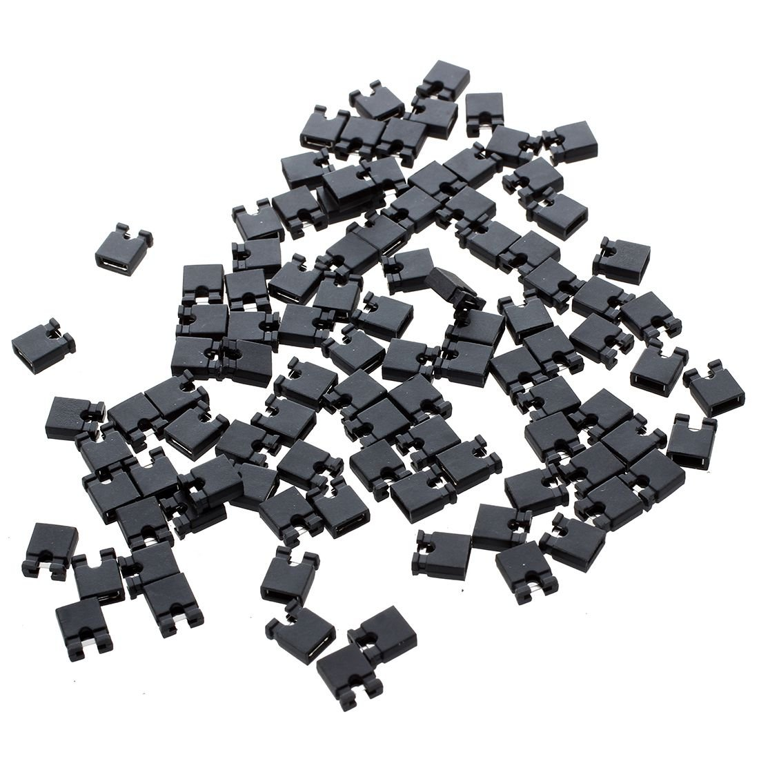 SODIAL(R) 100 x 3P hembra cable jumper Conector para 2, 54 mm puentes de alambre para Arduino 041845