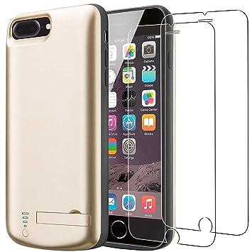 Funda Batería para iPhone 8 Plus/iPhone 7 Plus [8000 mAh], PEYOU Carcasa Batería Portátil, Compatible con Auriculares de Rayos, Funda Protectora ...