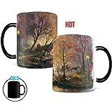 Morphing Mugs Thomas Kinkade Central Park in the Fall Painting Heat Reveal Ceramic Coffee Mug - 11 Ounces