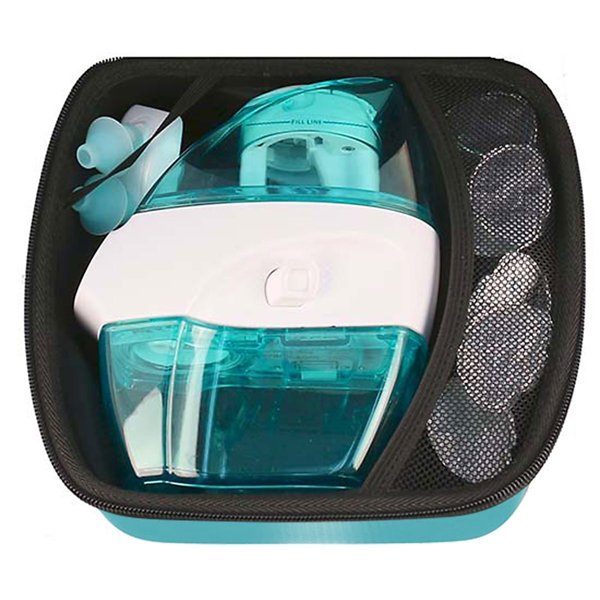 Navage Nasal Irrigation Deluxe Bundle: Naväge Nose Cleaner, 60 SaltPod Capsules, Countertop Caddy, and Travel Case. $160.75 if purchased separately. You save $40.80 (25%) by Navage (Image #8)