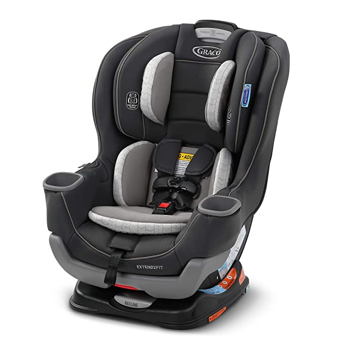 Graco Extend2Fit Convertible Car Seat | Ride Rear Facing Longer with Extend2Fit, Redmond, Amazon Exclusive