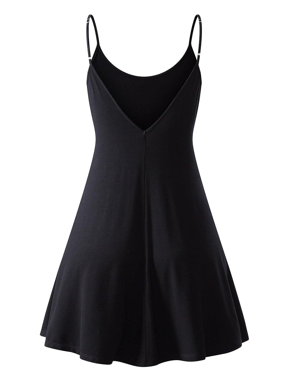 MSBASIC Womens Sleeveless Adjustable Strappy Summer Beach Swing Dress