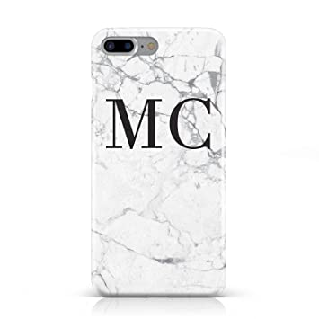 Personalised Marble Initials Mobile Phone Case Cover For Apple